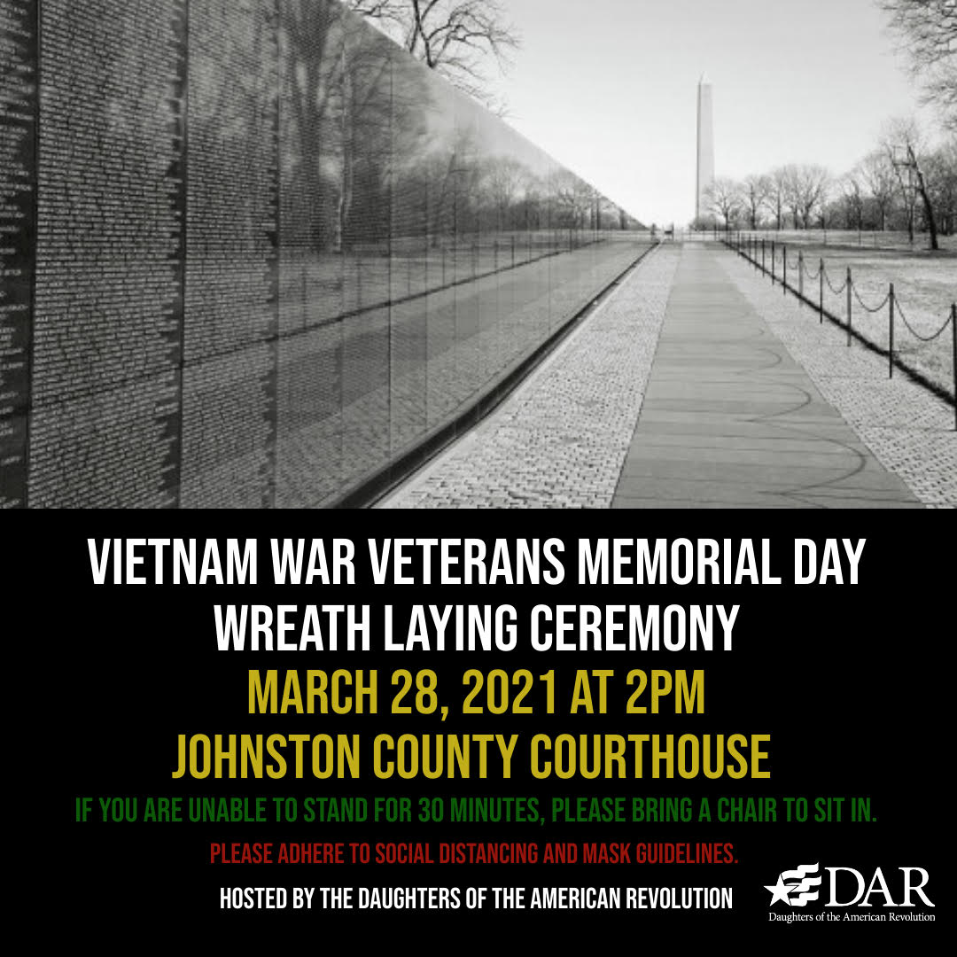 March 28th Vietnam War Veterans Memorial Day Wreath Laying Ceremony